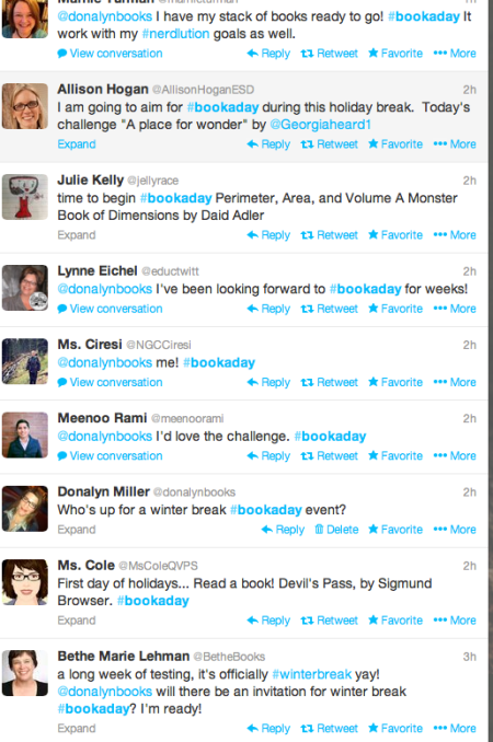 bookaday tweets